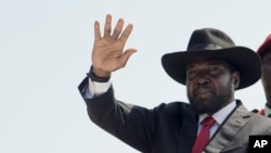 South Sudan's President Salva Kiir, seen in this July 2016 file photo, says soldiers who rape should be shot, Feb. 6, 2017.