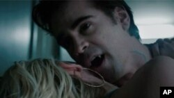 "Colin Farrell is an evil vampire named Jerry in a remake of the 1980s horror classic, ""Fright Night."""