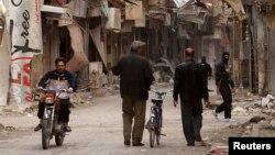 Razrušeni sirijski grad Deir al-Zor