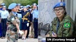 اقوام متحدہ کی امن کار بھارتی میجر سمن گاوامی، فائل فوٹو