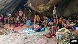 စစ္ေရွာင္ကရင္ ဒုကၡသည္မ်ား (Photo by Handout / Free Burma Rangers / AFP)