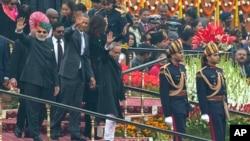 Predsednik Barak Obama i najviši indijski zvaničnici na proslavi Dana republike