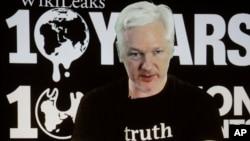 阿桑奇10月4號通過視訊參加德國舉行的維基解密10週年的記者會