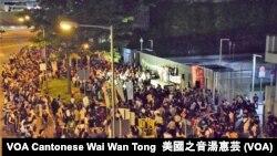 約1千名市民集會聲援最近被判監及將會判監的社運人士及學生領袖。攝影:美國之音湯惠芸