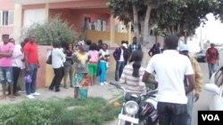 Une manifestation en Angola, 28 août 2012.