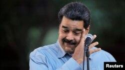 Venezuela's President Nicolas Maduro attends a gathering in support of his government in Caracas, Venezuela, Feb. 7, 2019.