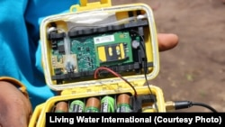Water Sensor used to expedite water pump maintenance. Living Water International is the first organization to use the technology at a scale this large.