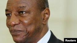 서아프리카 기니의 알파 콩데 대통령.