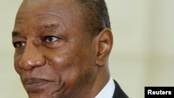 Guinea's President Alpha Conde. (May 2012 file photo)