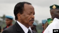 Le président Paul Biya à Yaounde, 29 juillet 2015.