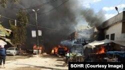 Ledakan di pusat kota Afrin, Suriah Utara, Selasa (38/4), menewaskan sedikitnya 40 orang.