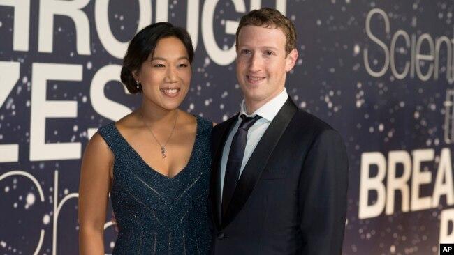 Tư liệu- Priscilla Chan và Mark Zuckerberg, CEO của Facebook, tại Mountain View, California, ngày 9/11/2014.