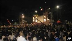 每年於香港維多利亞公園舉行的六四紀念晚會(資料圖片)