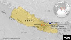 Những chấn động của vụ động đất mới nhất ở Nepal có thể được cảm nhận ở khắp Ấn Độ và Bangladesh.