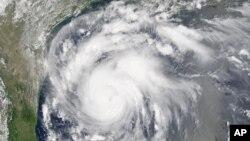 Bão Harvey do vệ tinh chụp ngày 24/8/2017.