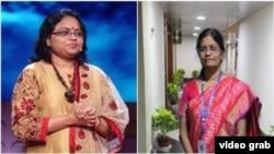 Además de dar una nueva dimensión a las ambiciones espaciales de la India, destaca que dos mujeres estén al frente de la misión, por primera vez en ese país: las científicas Muthyya Vanitha, izquierda, y Ritu Karidhal, derecha.
