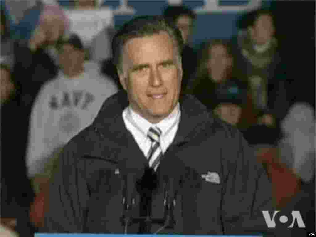 Le candidat Mitt Romney