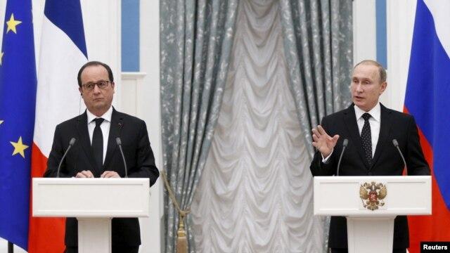 លោក Hollande ជំរុញឲ្យរុស្ស៊ីចូលរួមជាមួយកងកម្លាំងប្រយុទ្ធដើម្បីវាយប្រហារលើរដ្ឋឥស្លាម