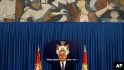 I predsednik u najavio trku za drugi mandat - Tomislav Nikolić, predsednik Srbije. (AP Photo/Darko Vojinovic)