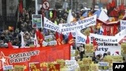 Демонстрация протеста в Дублине.