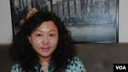 西藏青年自強計劃發起人許先茗 美國之音湯惠芸拍攝