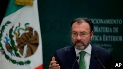 Le ministre des Affaires étrangères mexicain, Luis Videgaray.