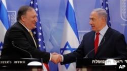 دیدار مایک پمپئو و بنیامین نتانیاهو، چهارشنبه ۲۹ اسفند در اورشلیم