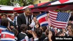 Serok Obama li bajarê San Jose, Kosta Rîka.