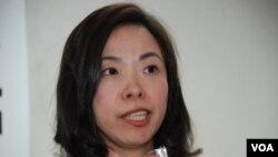 李慧玲表示,香港傳媒最近遇到的嚴峻環境,是她入行近30年所未見(美國之音湯惠芸拍攝)