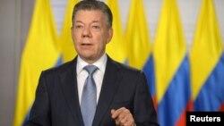 Tổng thống Colombia Juan Manuel Santos phát biểu hôm 25/5/2018