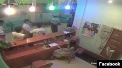 CCTV မွာျမင္ရေသာ မိုတယ္ေရႊျပည္သာ ဧည့္ႀကဳိ ေကာင္တာ ျမင္ကြင္း