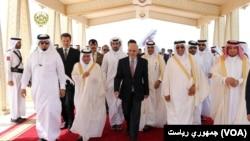 President Ghani in Qatar