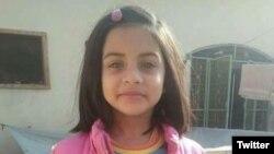 Zainab, 8 ans, enlevée, violée et tuée; retrouvé morte sur un tas d'ordures le 9 janvier à Kasur, Pakistan.