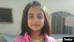 قصور میں جنسی زیادتی کا نشانہ بنا کر قتل کی جانے والی بچی زینب۔