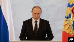 Владимир Путин. Ежегодное послание Федеральному Собранию. Москва, Кремль, 3 декабря 2015.