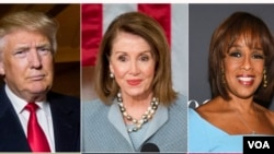 Time jurnalının dünyanın 100 ən nüfuzlu adamları arasında ABŞ prezidenti Donald Tramp, Konqresin Nümayəndələr Palatasının spikeri Nensi Pelozi və CBS tele kanalının jurnalisti Qeyl Kinq