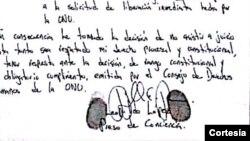 Leopoldo López escribió un texto de su puño y letra en el que explica las razones por las que no asistirá más al juicio.