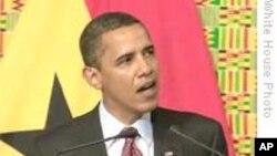 Rais Barack Obama akizungumza katika bunge la Ghana mjini Accra, 11 Julai 2009
