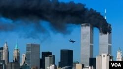 Chiếc máy bay bị cướp đâm vào toà Tháp Đôi ở New York, 11/9/2001