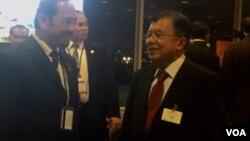 Wapres Jusuf Kalla (kanan) di sela-sela Sidang Umum PBB di New York, Kamis (22/9).