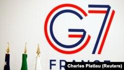 Le logo du prochain sommet du G7 à Biarritz, en France. REUTERS / Charles Platiau -