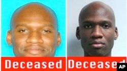 美國中央調查局公布的9月16日美國海軍設施槍擊案的作案者槍手阿倫‧亞歷克西斯的照片