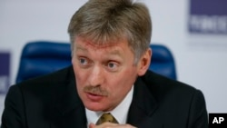 Le porte-parole du president russe, Dmitri Peskov (AP Photo/Alexander Zemlianichenko)