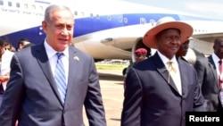 Firayim Ministan Israila Benjamin Netanyahu da Shugaban Uganda Yoweni Museveni