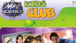 A look at the homepage of Mad Science Kids Club