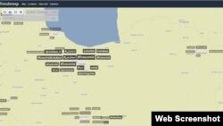 نقشه ترندهای توییتر در منطقه ایران که در اختیار هشتگهای امید کوکبی است
