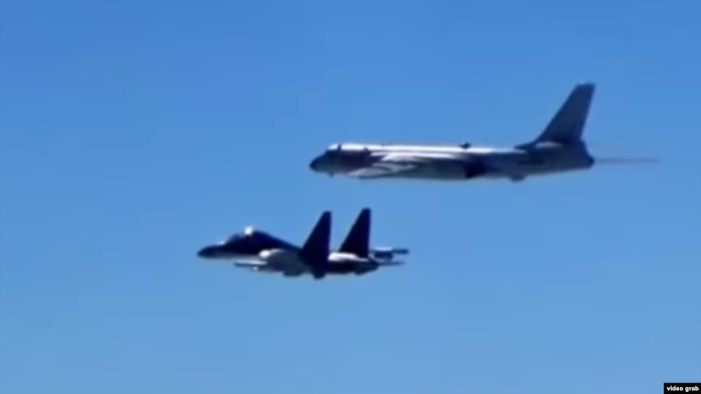 """中國空軍微博""""繞島巡航""""視頻截圖"""