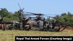 Thai soldiers take part in the Lightning Forge Exercise 2019, a large-scale training exercise, on Oahu, Hawaii, U.S.A.
