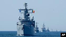 """北約與烏克蘭在黑海舉行""""海風-2021""""(Sea Breeze 2021)軍事演習(2021年7月9日)"""