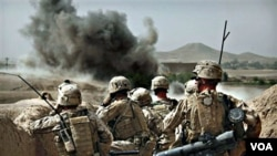Para tentara Marinir AS dari Batalion 1 di provinsi Helmand, Afghanistan (foto:dok).